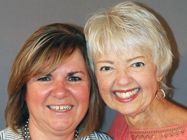 Terri Roberts (right) and her friend Delores Hayford, during a recent StoryCorps visit.