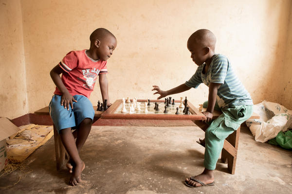 Children at the Katwe Chess Academy learn lessons that apply to life as well as the chess board.