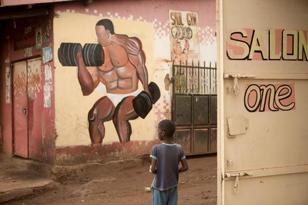A child in Katwe, a poor neighborhood in Kampala, Uganda.
