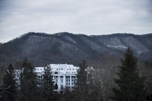 A view of Jim Justice's Greenbrier Resort in White Sulphur Springs, W.Va., in 2013.
