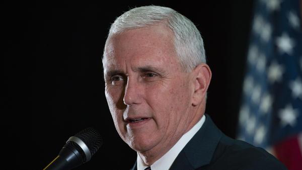 Republican vice presidential candidate Mike Pence campaigns last week in Gettysburg, Pa.