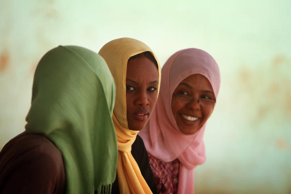 Students in Khartoum, Sudan. Researchers made a movie, set in the country, with a subplot intended to change views about the practice of female genital mutilation.