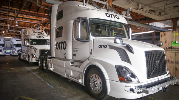 Otto developed technology to allow big-rig trucks to drive themselves. Uber, another transportation company working on self-driving technology, acquired Otto in August.