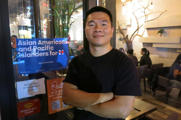 "Xu Lin co-owns Bubblefish, a restaurant in Philadelphia's Chinatown neighborhood. His support for Hillary Clinton is based more on his dislike of Donald Trump, whom he labels as a ""racist, xenophobic, homophobic, sexist"" person."