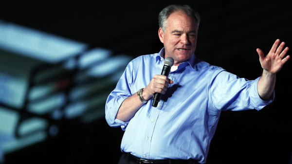 Democratic vice presidential candidate Sen. Tim Kaine campaigns in Virginia last week.