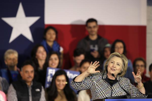 Democratic presidential candidate Hillary Clinton speaks at a campaign event in Dallas on Nov. 17, 2015.