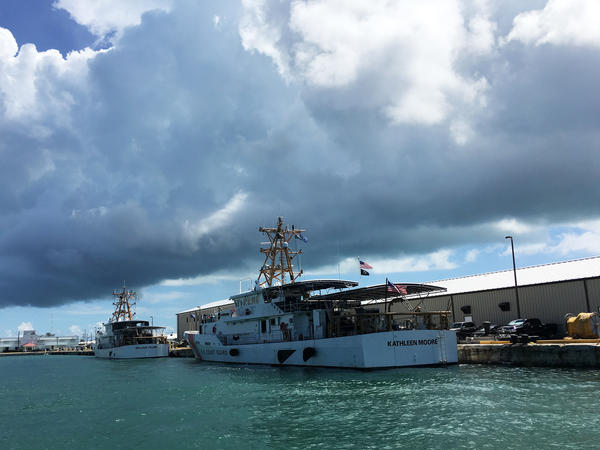The Coast Guard in Key West uses these fast response cutters to intercept migrants in the Florida Straits and repatriate them to Cuba.