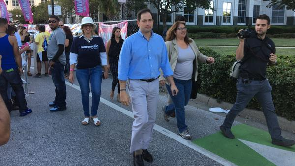 Marco Rubio at Calle Orange, a street festival in downtown Orlando, Fla., on Sunday.