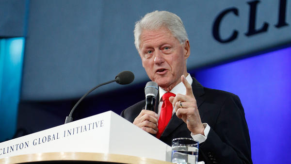 President Bill Clinton gives a farewell address at the 2016 Clinton Global Initiative Annual Meeting on Sept. 21 in New York City.