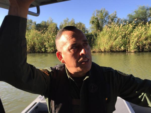 Border Patrol Agent-in-Charge Henry Leo on the Rio Grande.