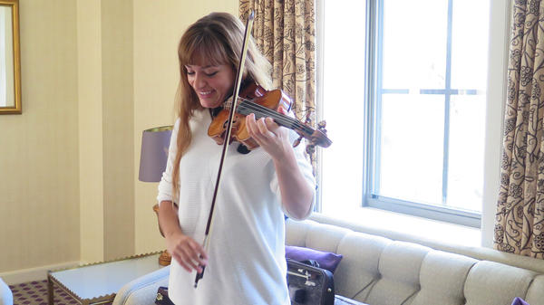Nicola Benedetti, prior to performing Wynton Marsalis' violin concerto with the National Symphony Orchestra last week.