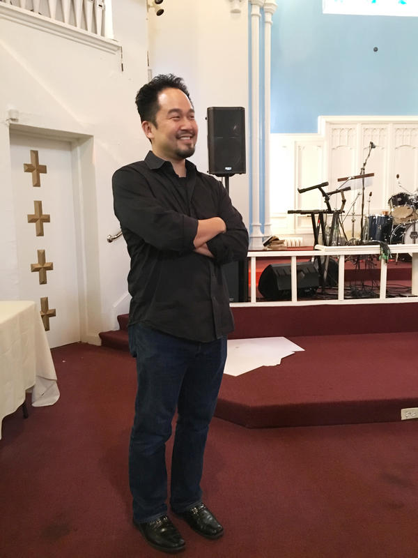 The Rev. Duke Kwon advised his congregants that Jesus' teachings don't fit neatly in political categories.