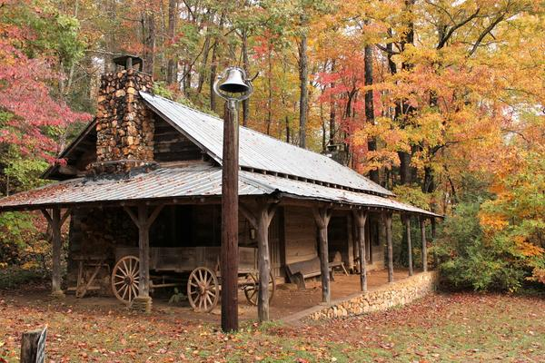 The buildings at the 106-acre Foxfire Museum & Heritage Center near Black Rock Mountain in northern Georgia were all moved from their original locations or built from scratch using traditional techniques.