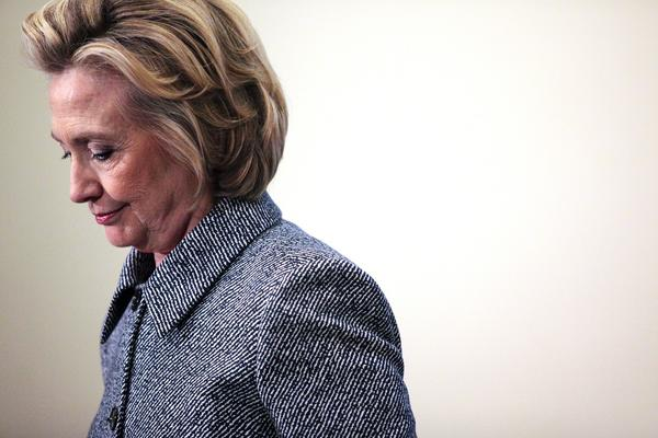 Hillary Clinton speaks to the media after keynoting a Women's Empowerment Event at the United Nations March 10, 2015 in New York City, just days after it was revealed she used a private email server while secretary of state.
