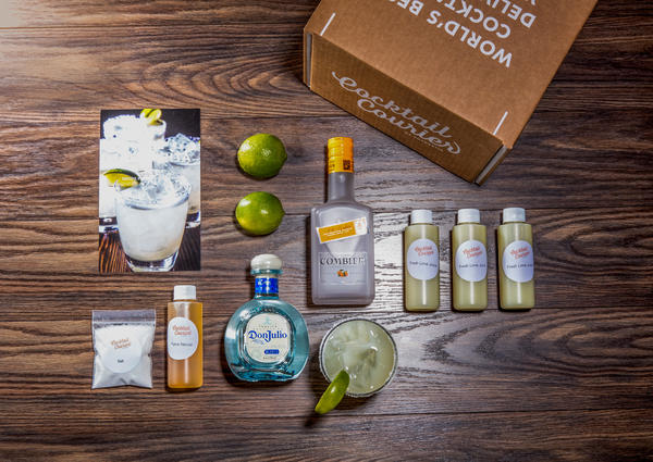 A margarita kit from Cocktail Courier