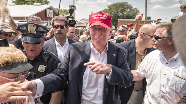 Donald Trump at the Iowa State Fair in August 2015