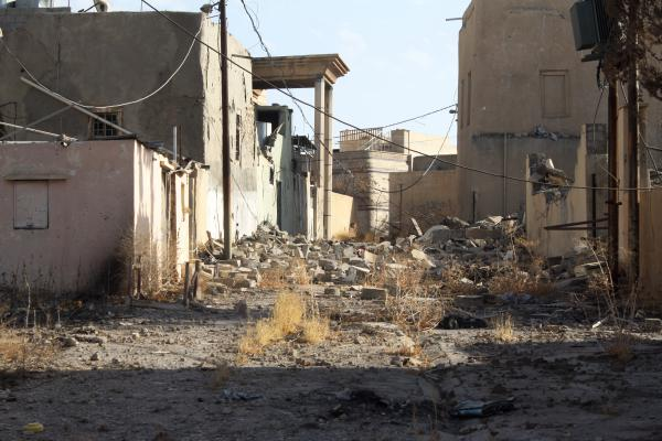 Karamlesh was held by ISIS for more than two years. The militants dug tunnels and filled shops and houses with explosives.
