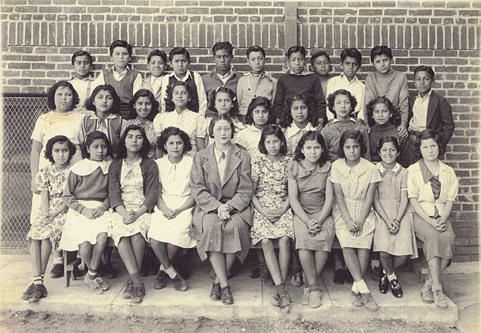 "Lincoln Elementary School for ""Mexican"" children in Orange County, Calif., 1930s."