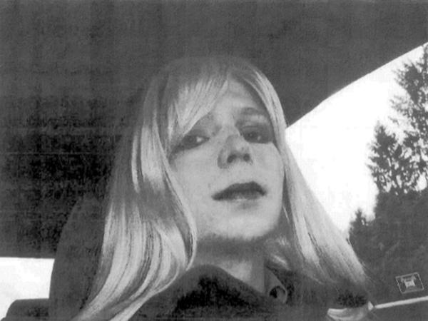 Pfc. Chelsea Manning poses for a photo in 2010.