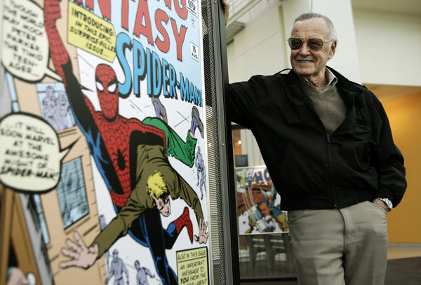 Comic book creator Stan Lee in the Marvel Super Heroes Science Exhibition at the California Science Center in Los Angeles in 2006.