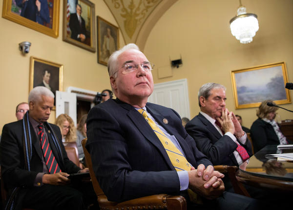 Rep. Tom Price (center) appeared in early 2016 before the House Rules Committee, when he sponsored legislation that would repeal President Obama's signature health care law.