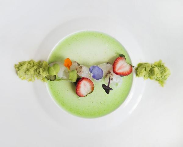Halibut, cucumber ice and cucumber gelee: Nakayama's meals are a feast for the eyes and the palate.