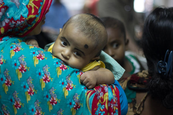 """A patient is pictured at a camp for diarrhea patients in Dhaka, Bangladesh. Among the past nominations for untold story: the need for vaccines to prevent """"severe, deadly diarrhea"""" in this part of the world."""