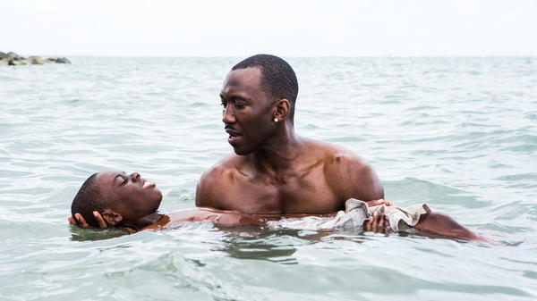 "Alex Hibbert and Mahershala Ali, from a scene in ""Moonlight."