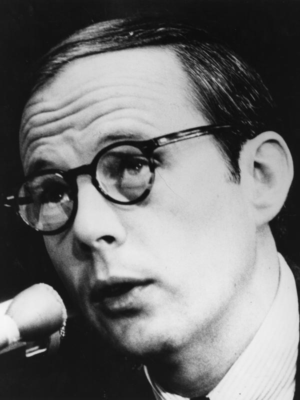 John Dean, former counsel to President Nixon, speaks during questioning by members of the Senate Committee investigating the Watergate scandal on June 28, 1973 in Washington, D.C.