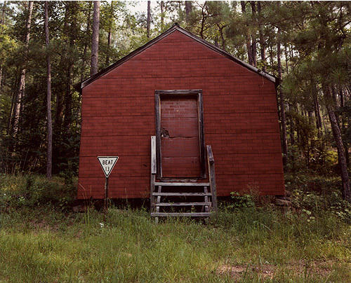 William Christenberry, Red Building in Forest, Hale County, Alabama, 1996.