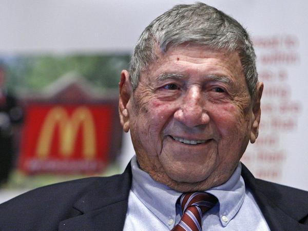 Big Mac creator Jim Delligatti attends his 90th-birthday party in 2008.