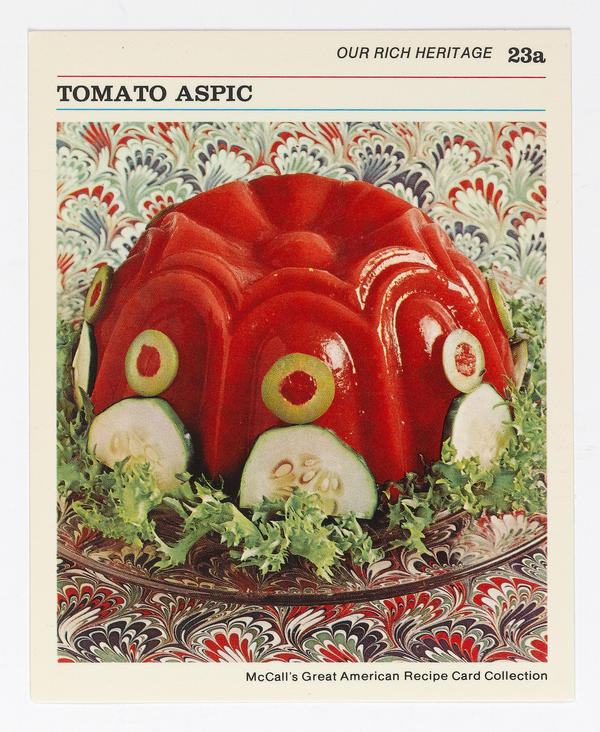 <strong>Tomato Aspic: </strong>Ladies and gentlemen, I present the shoo-in for next year's Turner Prize.