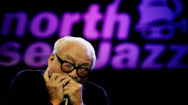 Toots Thielemans onstage at the North Sea Jazz Festival in the Netherlands in 2005.