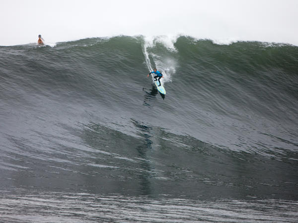 Chris Bertish at work in his other profession: globe-trotting, big-wave surfer.