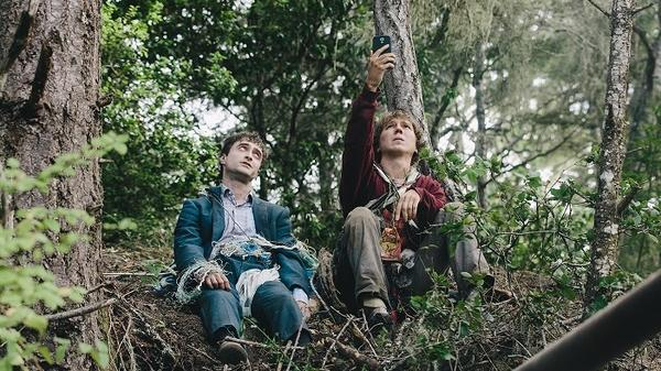 Flatulent super-powered corpse Manny (Daniel Radcliffe) and his troubled pal Hank (Paul Dano) in <em>Swiss Army Man</em>.