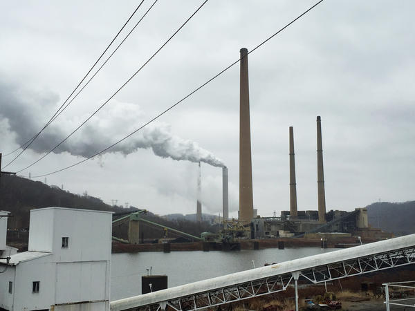 Across the Ohio River from Powhatan Transportation Center — owned by Murray Energy — is a power plant that services mines in West Virginia.