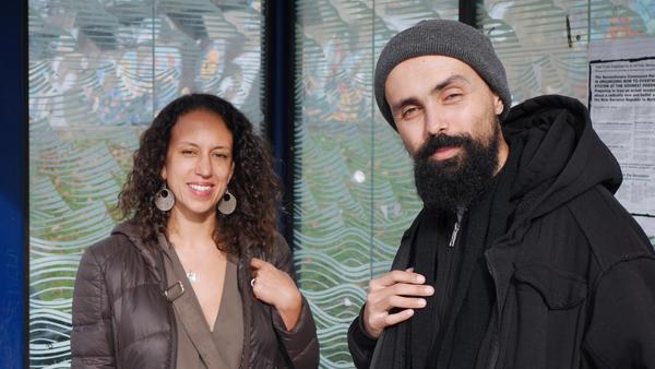 Carla Saulter and Gabriel Teodros are Seattle-born bus companions.