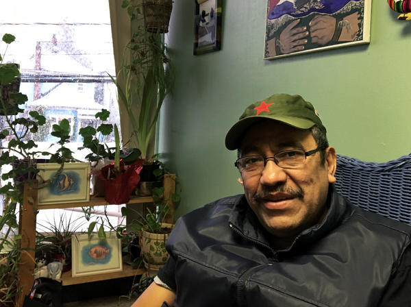 Byron Cruz, a naturalized Canadian citizen originally from Guatemala, works with recent immigrants. He says the ones who don't have legal status fear encounters with the police because he says there is no protection from the Canada Border Services Agency.