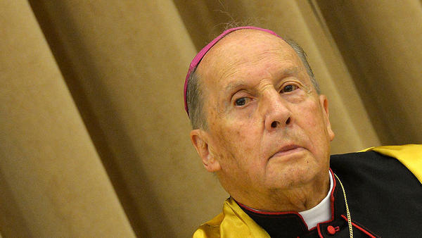 Bishop Javier Echevarría, the prelate of Opus Dei, is pictured in November 2012 in Rome. He died Monday at the age of 84.
