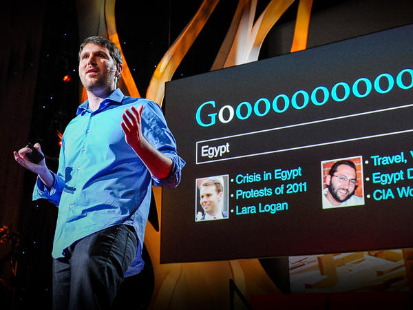 Eli Pariser speaking at TED in 2011.