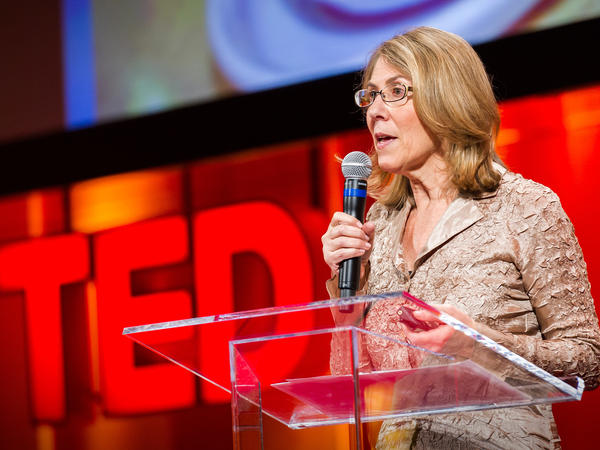 Elizabeth Lesser speaking at TEDWomen in 2010.