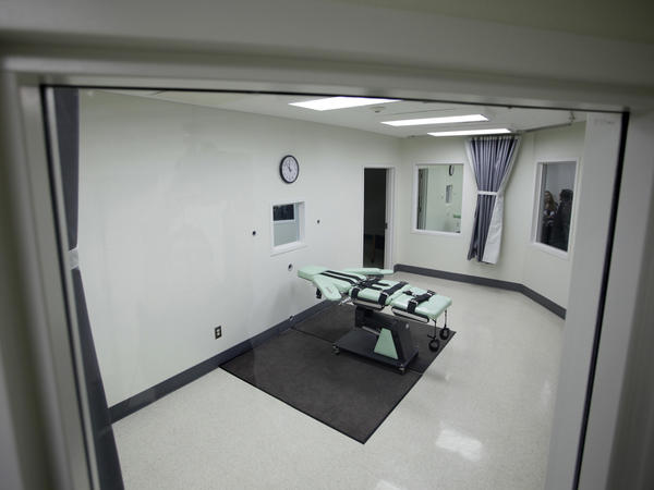 A 2010 photo shows the interior of the lethal injection facility at San Quentin State Prison in San Quentin, Calif.