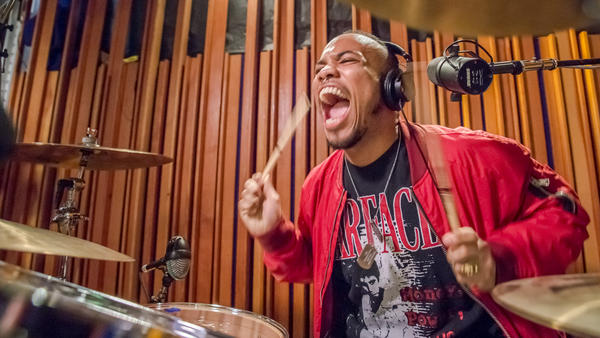 Anderson .Paak performs live for KCRW's <em>Morning Becomes Eclectic</em> on March 22, 2016.