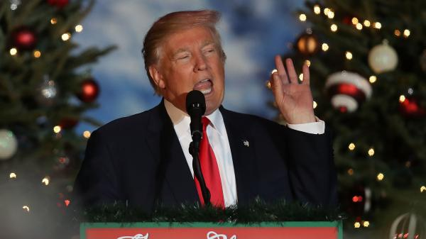 Christmas is coming, but Donald Trump still has a lot to say about November's election.
