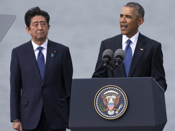 President Obama and Japanese Prime Minister Shinzo Abe made a historic appearance at Pearl Harbor on Tuesday. While Abe is not the first Japanese leader to visit the landmark, he's the first do so publicly and alongside a U.S. president.