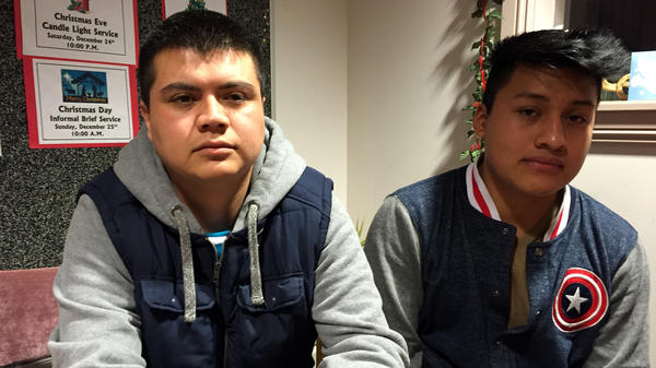 During one of the biggest immigration raids in recent years, ICE officers arrested Jose Antonio Ramos, 29 (left), a cook at a taco eatery and grocery store called La Divina, and Sergio Medellin, 19, a sous chef at Agave Mexican restaurant. They are facing deportation.