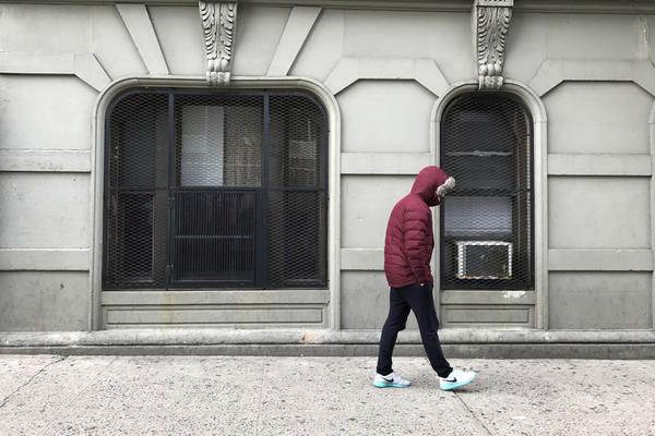 Eduardo walks by the spot where he was arrested for selling cocaine when he was 17 in New York City. He was recently pardoned by New York Gov. Andrew Cuomo as part of a program that helps people who committed a nonviolent crime when they were 16 or 17 and have stayed conviction-free for at least 10 years.