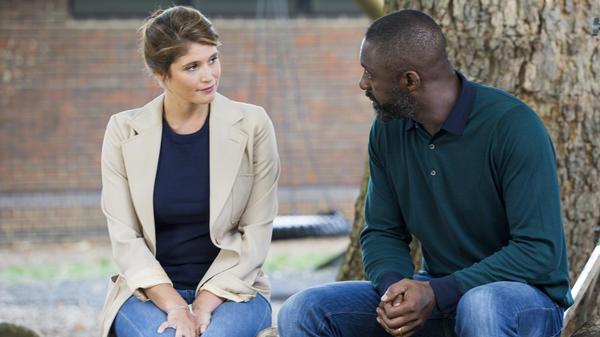 Emily (Gemma Aterton) and Max (Idris Elba) in <em>100 Streets</em>.