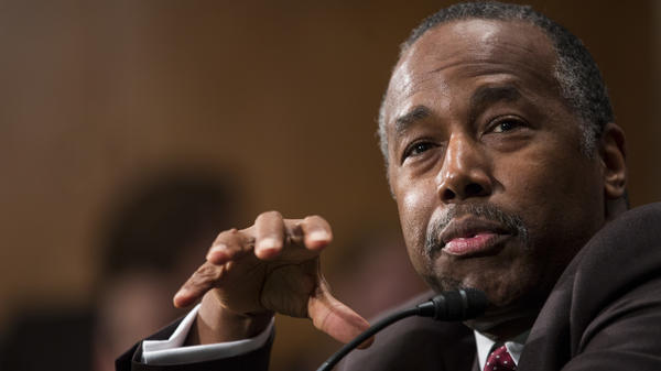 HUD nominee Ben Carson testifies at his Senate confirmation hearing.