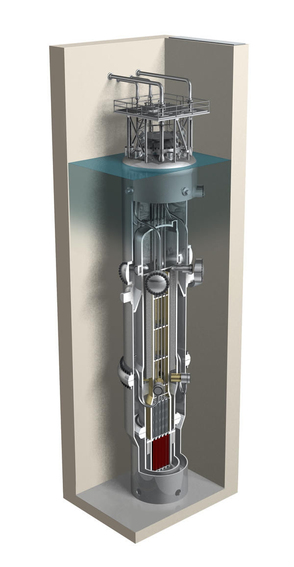 NuScale says the uranium fuel in each of its modules would be housed in a special containment vessel that would be submerged in a pool of water, an added safety feature.